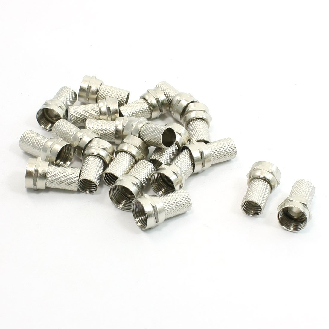 20Pcs CCTV RG6 F-Type Twist-On Coax Coaxial Cable RF Connector Male(China (Mainland))