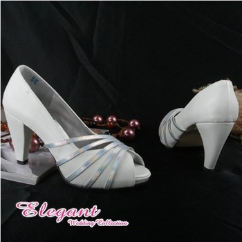 1 pair/lot free shipping custom-made bridal wedding shoes heels white 112W
