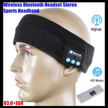 Беспроводная связь Bluetooth V3 0 трикотажные гарнитура стерео наушники сна громкой музыки магия спорт смарт чехол