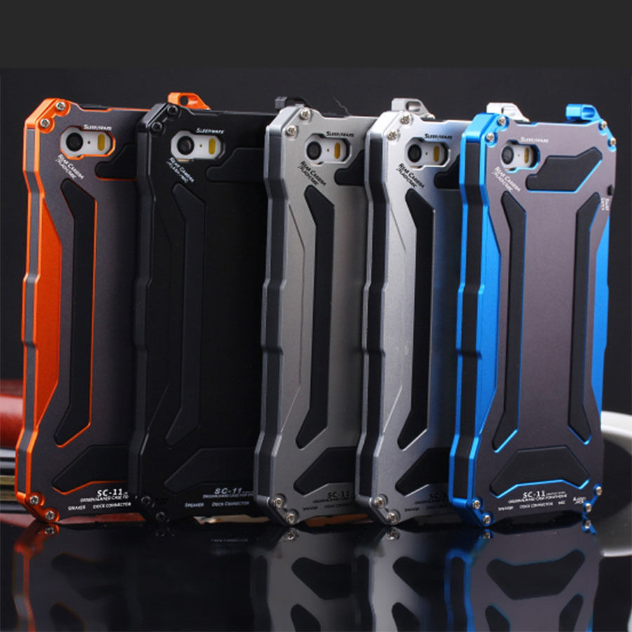 Super HeroExtreme Durable Strike Shockproof Waterproof Dustproof Metal Case Cover Screen Protector For I6/I6P free shipping(China (Mainland))