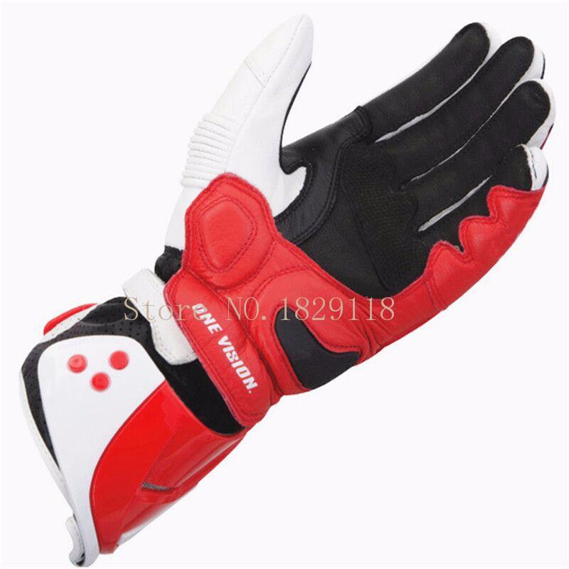 Купить ГОРЯЧИЕ Продажи Новый Alpine Натуральная Кожа перчатки Мотоцикла moto gp pro Полный Палец Вождения Мотокроссу luva Перчатки звезды