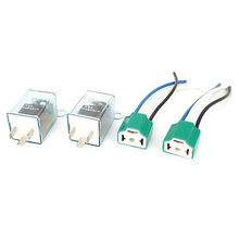 2Pcs DC 12V 130W 3 Pins Electronic LED Light Car Auto Flasher Relay w Socket(China (Mainland))