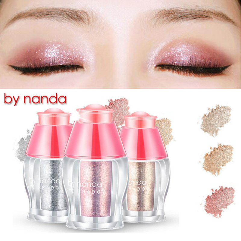 Loose Shimmer Eyeshadow Pigments Eyes / Face Highlighter Powder Makeup 3 Colors glitter white / champgne gold / rose gold(China (Mainland))