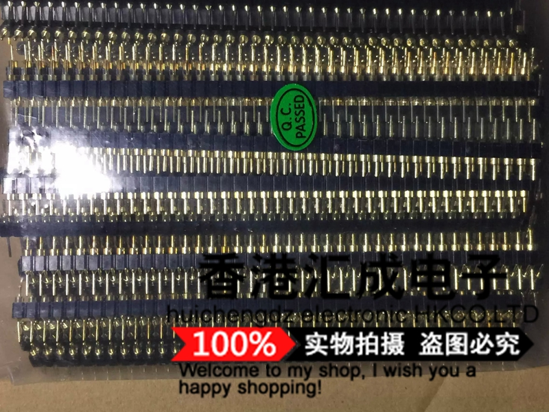 Single row of round pin 2.54mm pitch 1x40pin 1X40 vertical pin gold plated pin straight pin single row of pinsNew original<br><br>Aliexpress