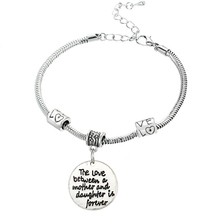 Family Gifts Mom Best Friend Grandmother Sister Bangle Bracelets Sweet Love Heart Charm Bracelet & Bangle For Women Girl(China (Mainland))