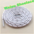 Weiou Sports White black silver Shoelaces Round rope laces for Outdoor Climbing Casual shoes 125cm 49