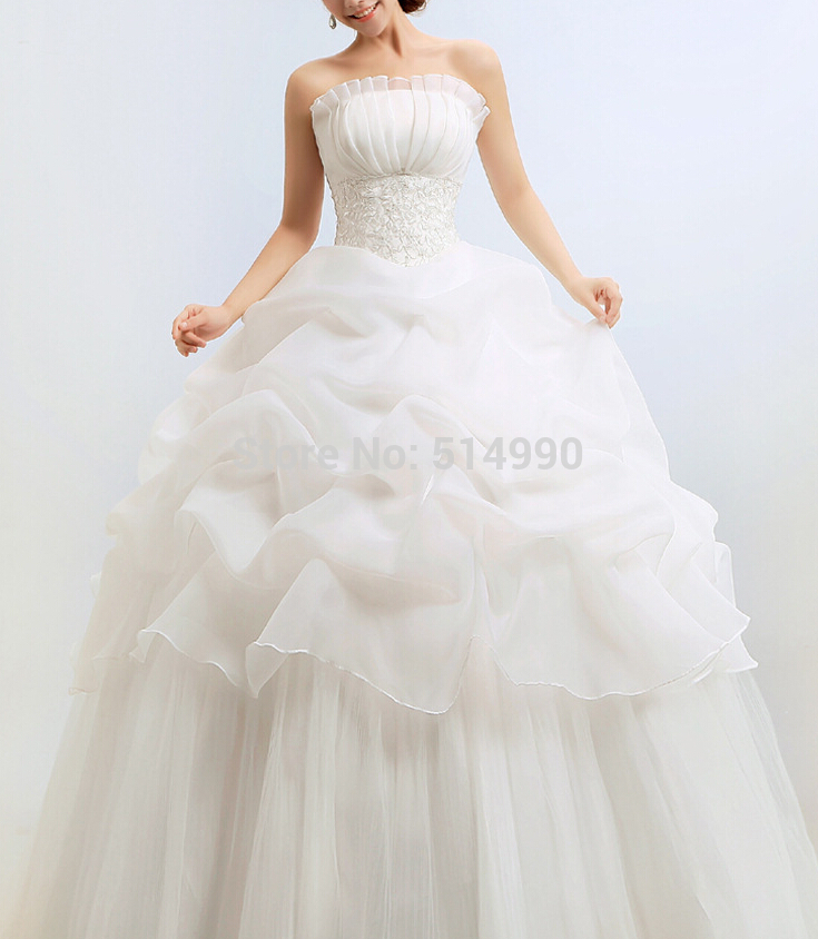 Models Europe And United States Popular Star Wear Embroidery Ball Gown Floor Length Wedding