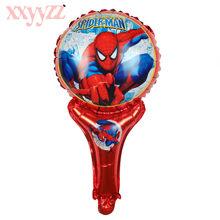 XXYYZZ handheld Escudo Capitão América superhero Hulk Vingadores Aliança globos balões folha festa de aniversário decoração Brinquedo da criança(China)