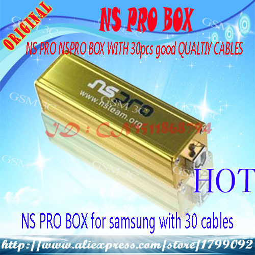 Free shipping+100% Original NS Pro box NSPro box with 30 cables for Samsung phones unlock & Repair imei EFS&Flash&Network Lock(China (Mainland))
