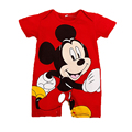 2016 Summer Style Baby Rompers Baby Girls Clothes Cotton Cute Mickey Minnie Romper Newborn Jumpsuits Ropa