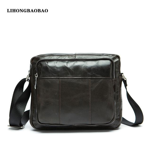 Hot Promotion Shoulder Bags for Men Genuine Leather Tablet PC Messenger Bag Business Crossbody Bag Casual Travel Small Sling Bag(China (Mainland))