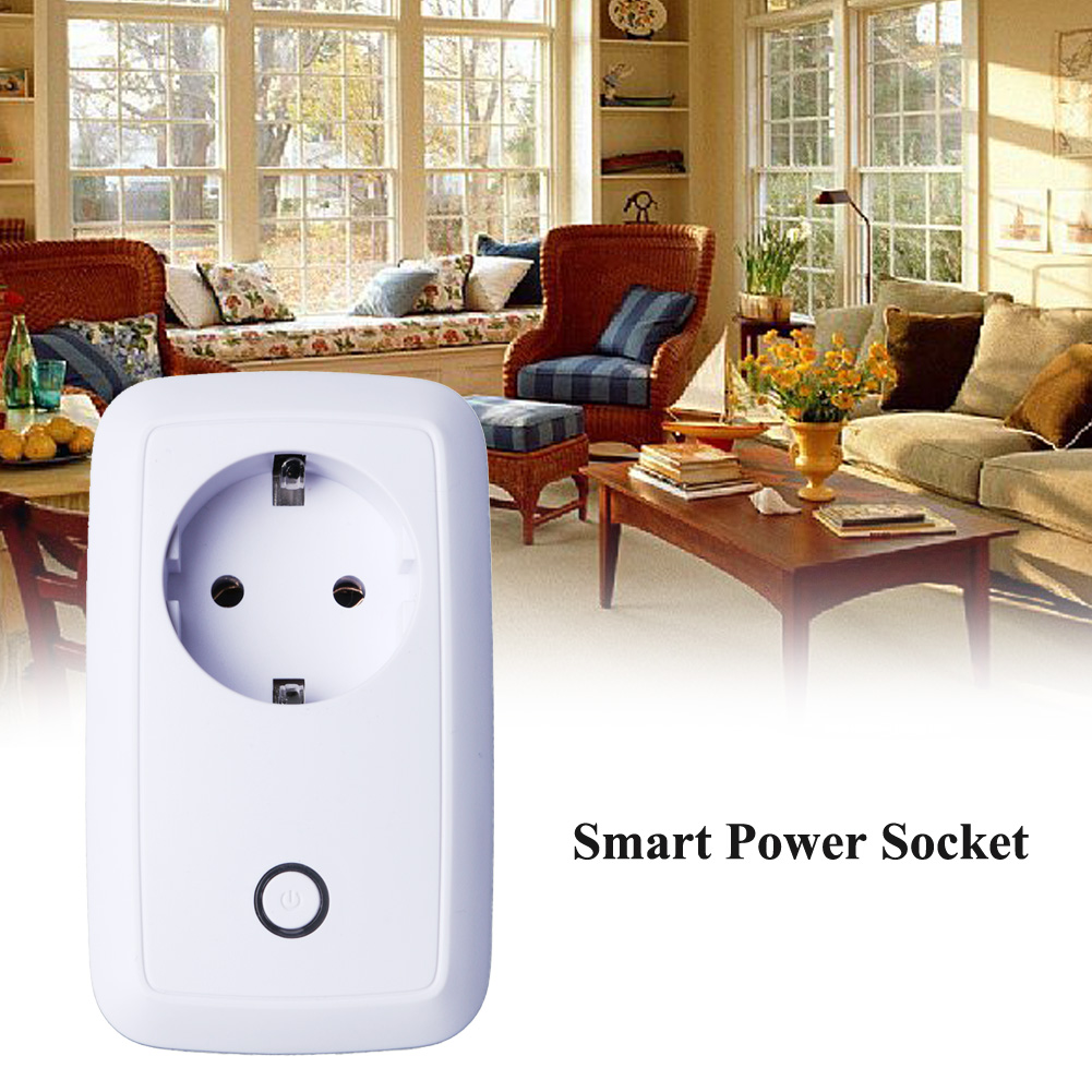 2.4G Wifi Smart Home Plug Power Socket Switch Wireless Phone Remote Control Wall EU Power Plug for Iphone Xiaomi IOS Android App