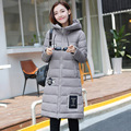 New Arrivals 2016 Winter Silm Fit Keep Warm 100 Down Cotton Long Sleeve Hooded Soild Color
