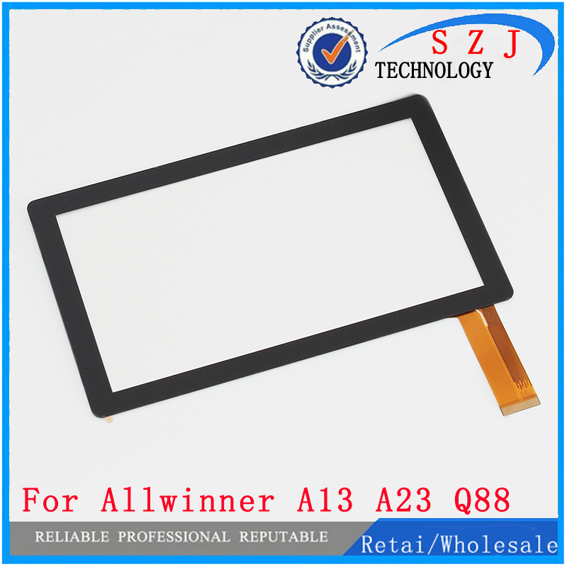 "30pcs /lot 7"" 7Inch Capacitive Touch Screen PANEL Digitizer Glass Replacement for Allwinner A13 Q88 Q8 Tablet PC pad A13(China (Mainland))"