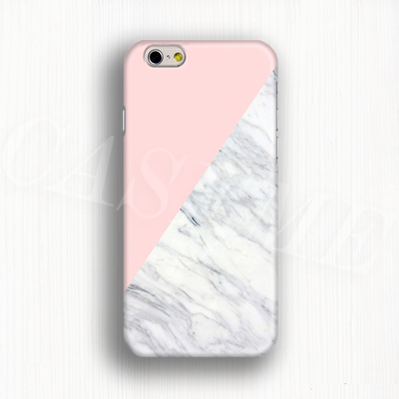 Case Design photo cell phone cases : Pink triangle on marble case 3D full wrap phone cover for iPhone 6 6 ...