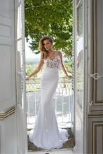Julie Vino 2016 New Elegant Mermaid Wedding Dresses White Sheer Capped Sleeves Applique Backless Bridal Gown GL - SuZhou F&M Dress Co.,Ltd store