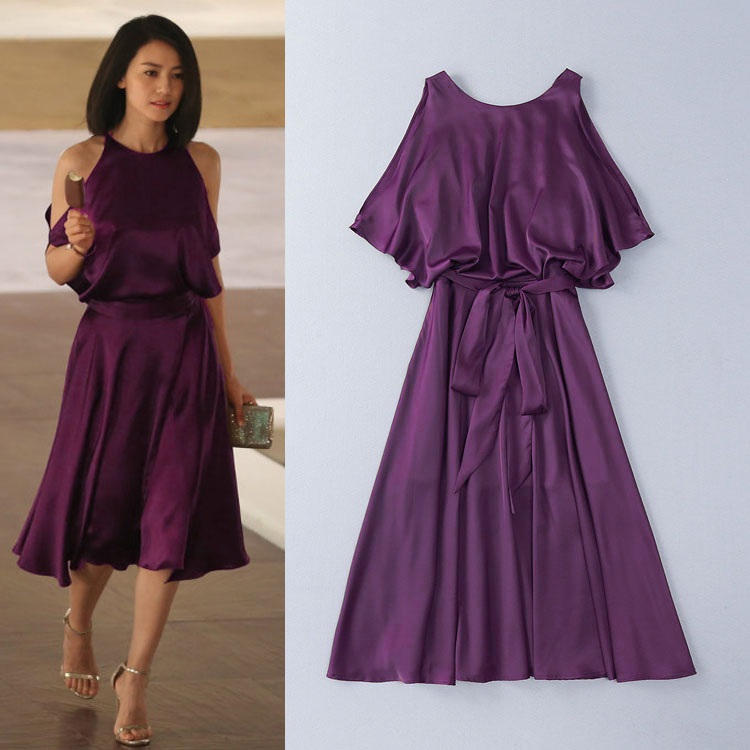 Top Quality New 2016 Summer Office Dress 2016 Ladies Sexy Off Shoulder Slim Fit Mid-Calf Sexy Business Dress Dinner Party Club(China (Mainland))