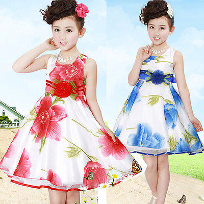 2016 Flower Girl Princess Dress Kids Party Pageant Wedding Bridesmaid Tutu Dress New<br><br>Aliexpress
