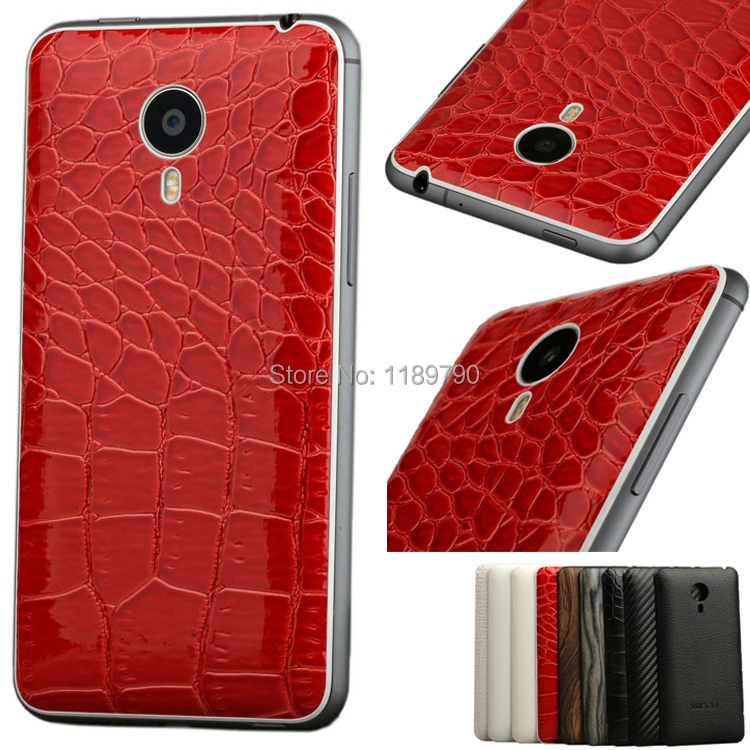 Fashion Wood Crocodile PU Leather Battery Case Power Replacement Back Cover door housing Meizu MX4 MX 4 - esell store