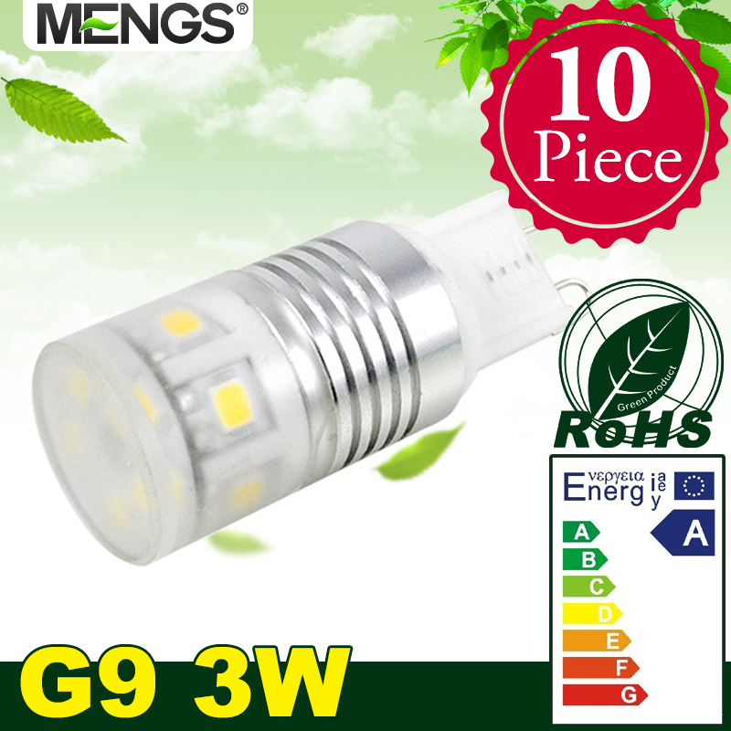 10Pcs per pack G9 3W LED Light 11x 2835 SMD LEDs LED Lamp Bulb in Warm White / Cool White Energy-saving lamp<br><br>Aliexpress