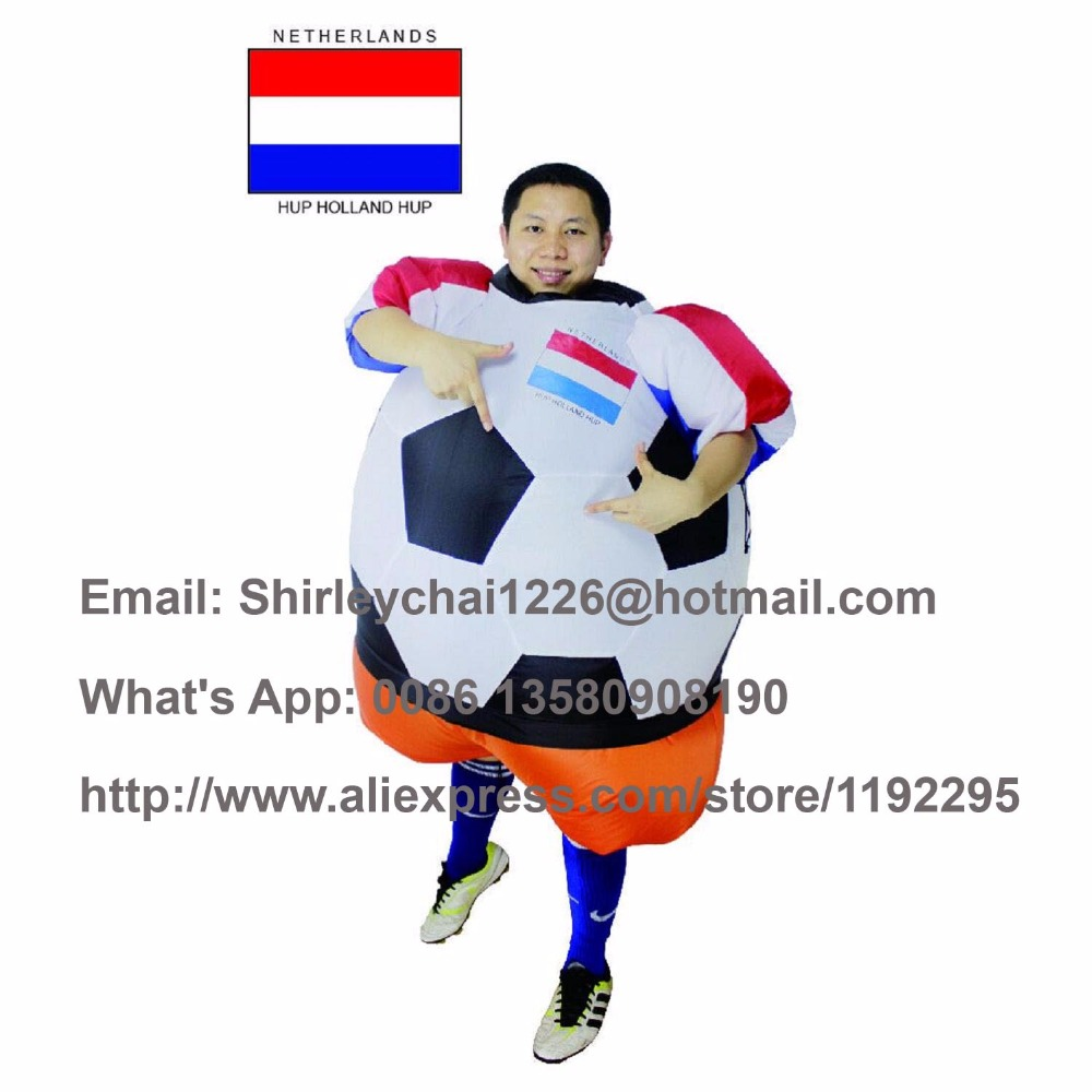 Netherlands inflatable costume Holland national team costume football Inflatable Ball Soccer baby Worldcup carnival for adult(China (Mainland))