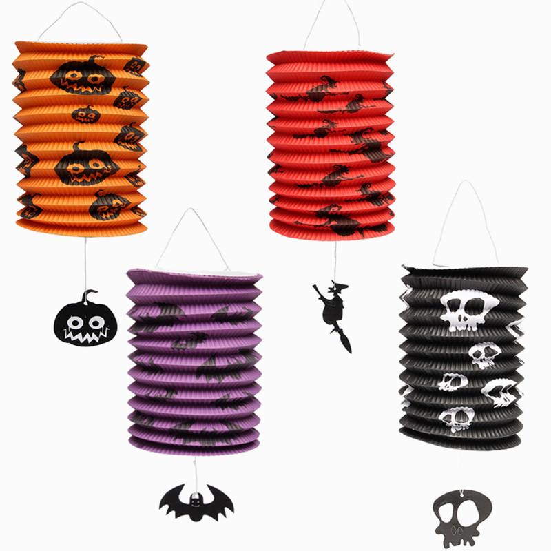 Fashion Design Special Offer Halloween Pumpkin Bat Pattern Paper Lantern Lamp Party Decorations Yard Hanging Decor(China (Mainland))