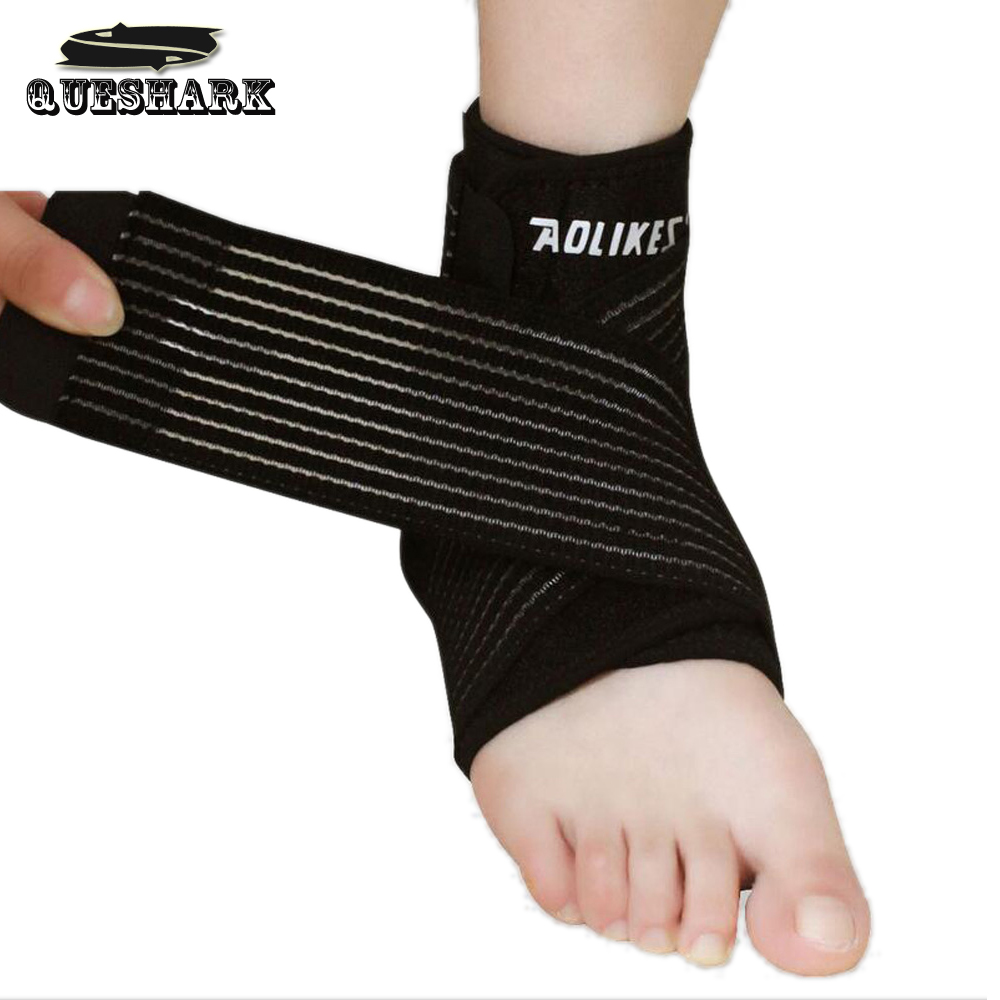 1pcs Ankle Support Football Basketball Taekwondo Badminton Sport Protection Bandage Elastic Ankle Sprain Brace Guard Protect<br><br>Aliexpress
