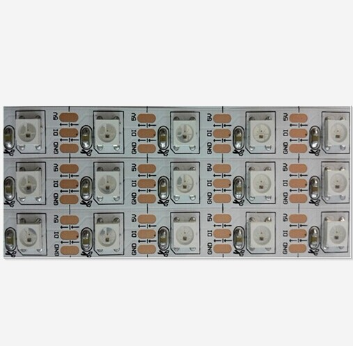 2m/lot WS2812 Built-in DC5V 144leds/m White/Black PCB Non-Waterproof Magic Dream Color SMD5050 RGB LED Strip Tape light<br>