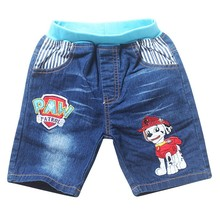 Cleanstock Stock! 3 Style Unisex  Dogs Cartoon Short Jeans Kid Boy Clothing Summer  For 3–8 Years Old