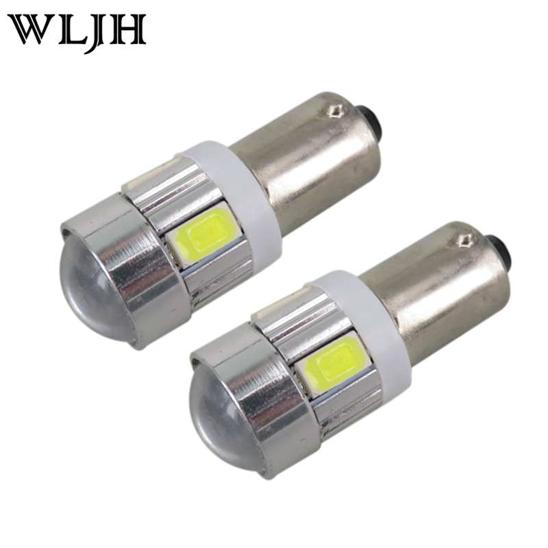 2pcs 233 BA9S T4W BAYONET For Samsung Chip 6 5630 SMD SIDE LIGHT NUMBER PLATE BULBS LED SUPER BRIGHT WHITE BLUE YELLOW RED(China (Mainland))