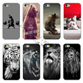 2015 latest lovely white hard shell protective shell phone cases hand-painted animal cases cover For Apple iphone 4 4S 4G case