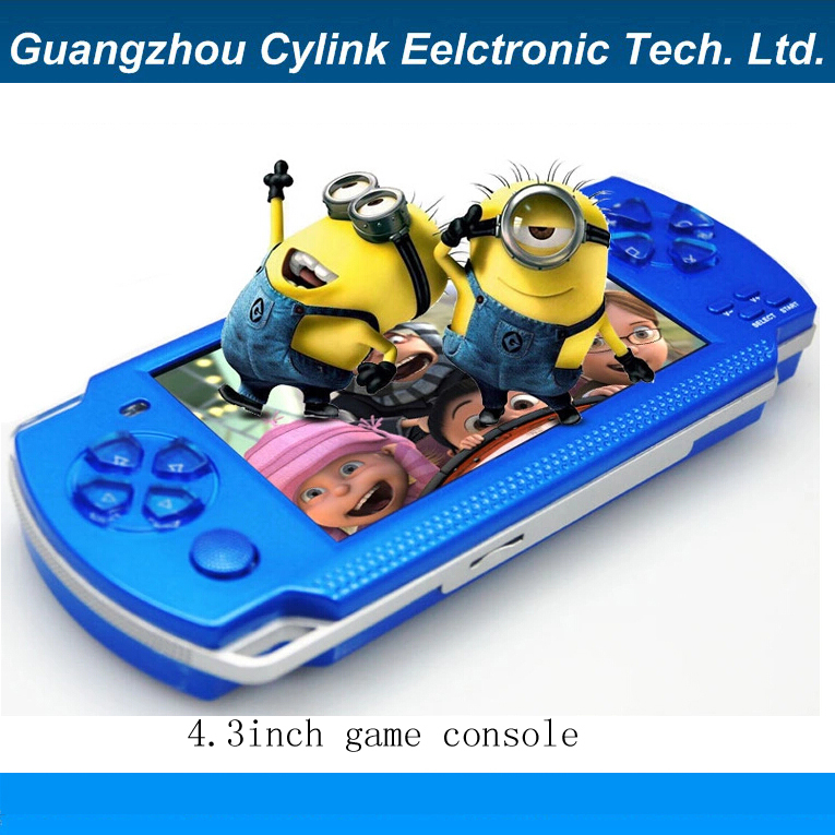 4.3 inch screen handheld game MP4 MP5 player games console with camera more 4000 free games support ebook/TV-out/video1.3 MP(China (Mainland))