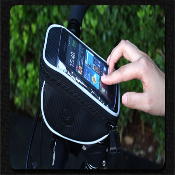 ROSWHEEL Cellphone Bicycle Cycling Front Top Frame Handlebar Cover Bag PVC Case Touch Screen MTB Bike