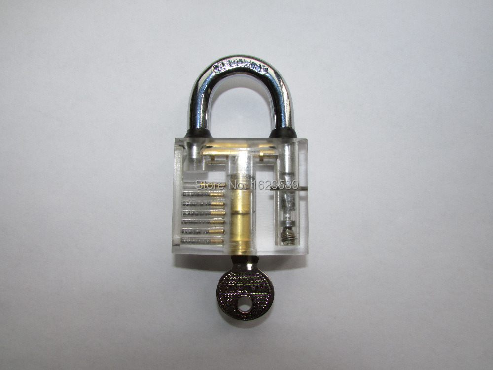 transparent padlock as arts and crafts appreciate or training tool for locksmith New brand Exclusive