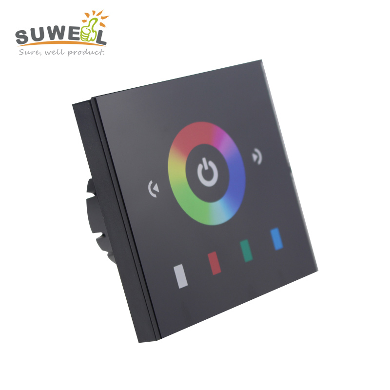 EU standard dc 12-24v rgb controller touch switch control 3528 5050 rgb strip controller output 3 channel 4A/channel(China (Mainland))