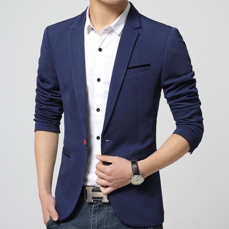 New 2015 High Quality Mens Blazer Jacket Unique Designer Solid Color Slim Fit Casual Suits For ...