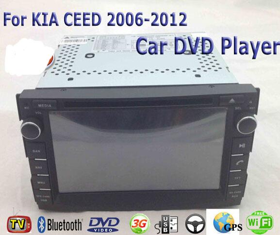 Car DVD Player Fit KIA CEED 2006 2007 2008 2009 2010 2011 2012 Car DVD Player GPS TV 3G Radio WiFi Bluetooth Wheel Control(China (Mainland))