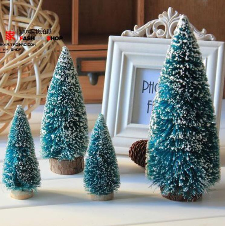 Personalized Ornament 15pcs/lot Mini Christmas Tree Home Decoration about 10cm 15cm 20cm Navidad Sequins Attractive and Durable(China (Mainland))