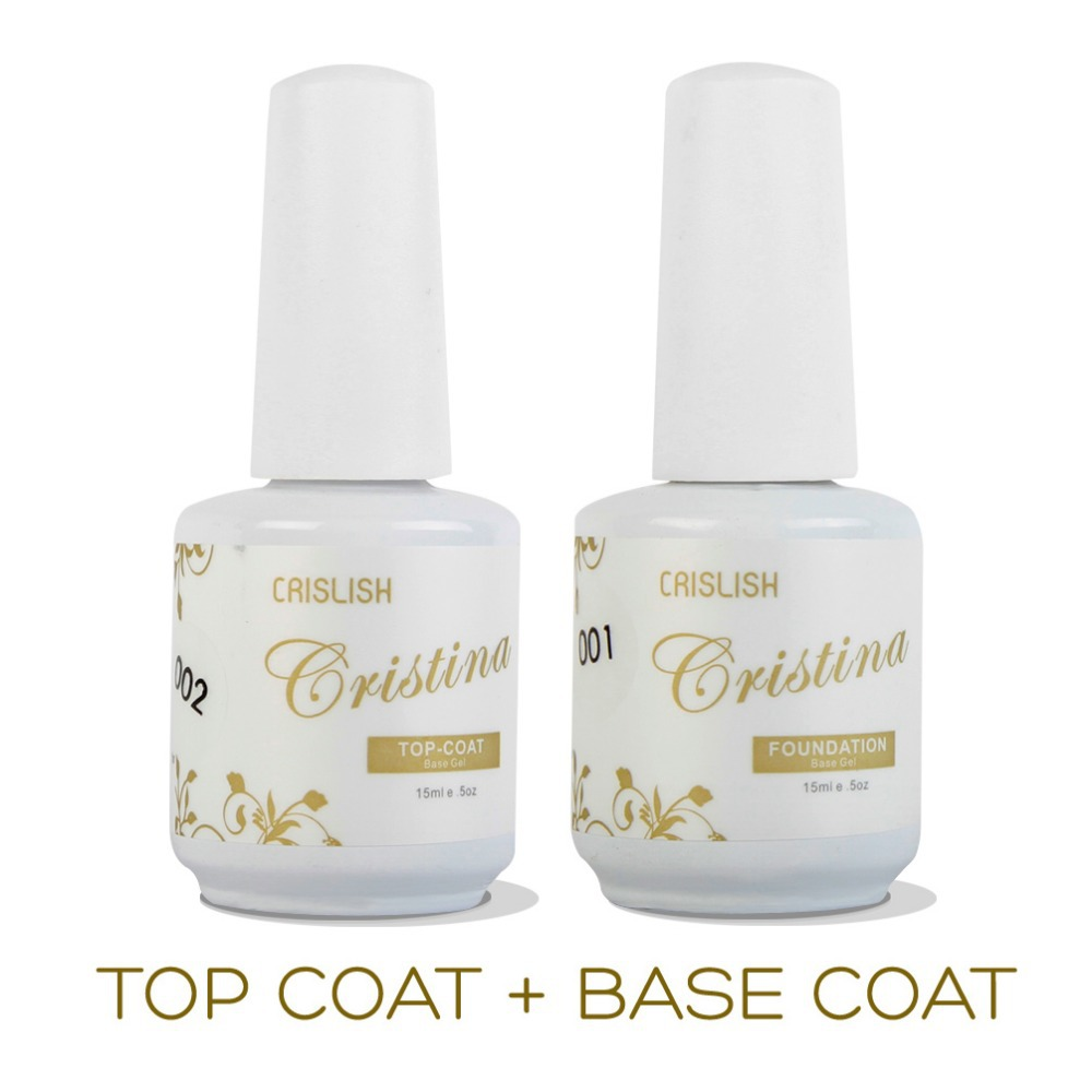 Cristina Professional Soak Gel Nail Polish Art Top Coat Base Set Uv Varnish Tools Primer - Dora's Temptation store