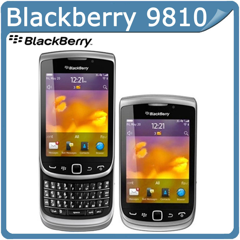 blackberry 9810 Original BlackBerry Torch 9810 GPS WIFI 5MP JAVA QWERTY Keyboard Unlocked Mobile Phone Free Shipping(China (Mainland))