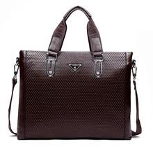 Fashion men leather briefcase brands fashion business messenger shoulder bags handbag portfolio male 2015 new  BG0226(China (Mainland))