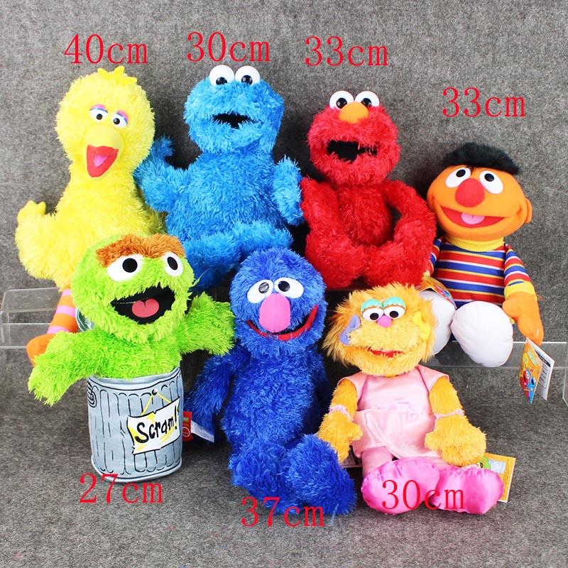 Full set 7Style Sesame Street Elmo Cookie Grover Zoe& Ernie Big Bird Stuffed Plush Toy Doll Gift Children(China (Mainland))