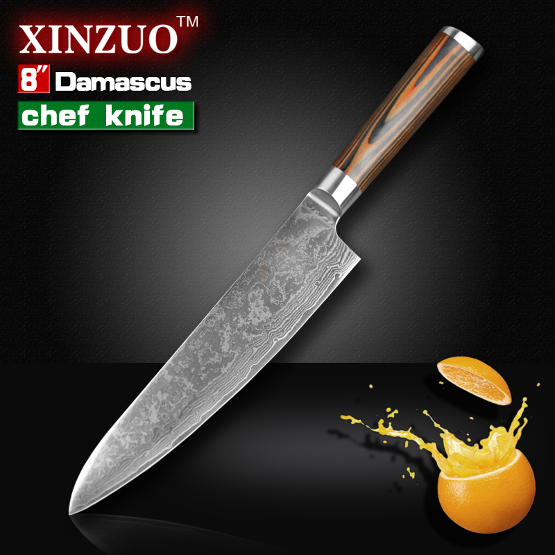 8 inches chef knife high quality 73 layers japanese vg10 damascus steel kitchen chef knife. Black Bedroom Furniture Sets. Home Design Ideas