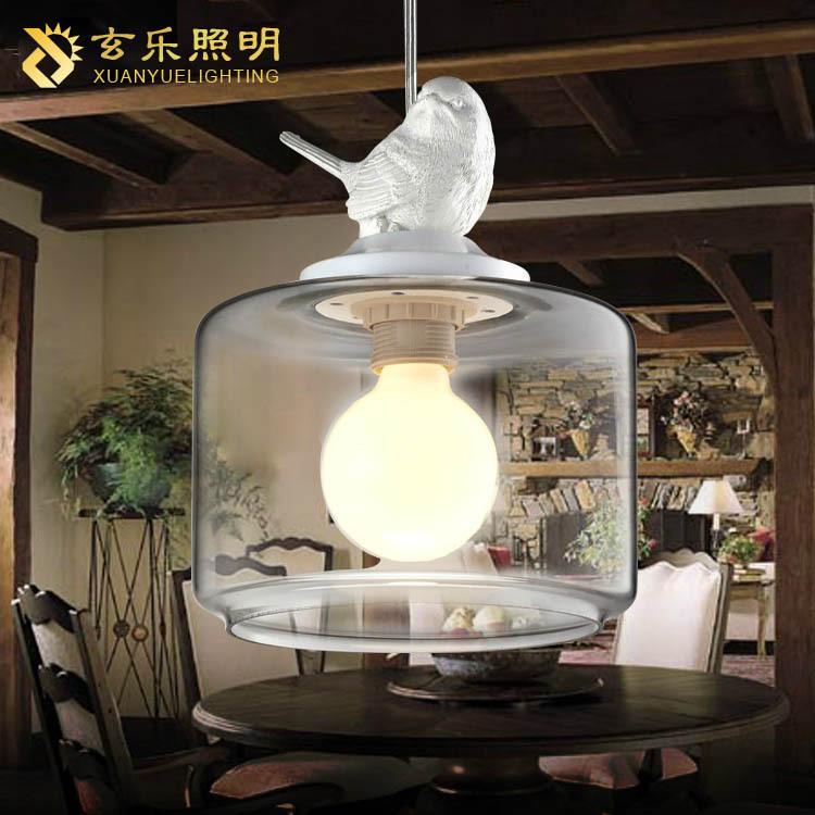 Lighting Lighting Limited mad rush duckling bird modern lamp single glass chandelier bar chandelier restaurant Chandelier(China (Mainland))