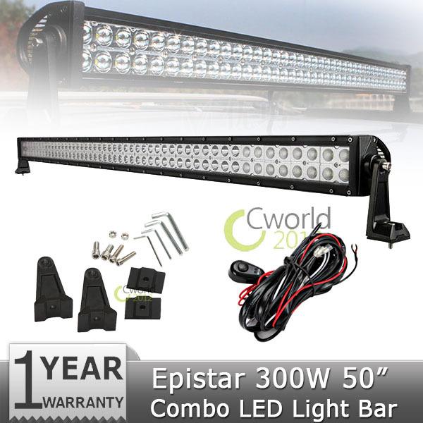 52 inch 300W EPISTAR Offroad LED Light Bar Combo Beam Led Work Light Driving Lamp For 12V/24V Truks SUV Truck Wagon 4WD ATV 4x4(China (Mainland))