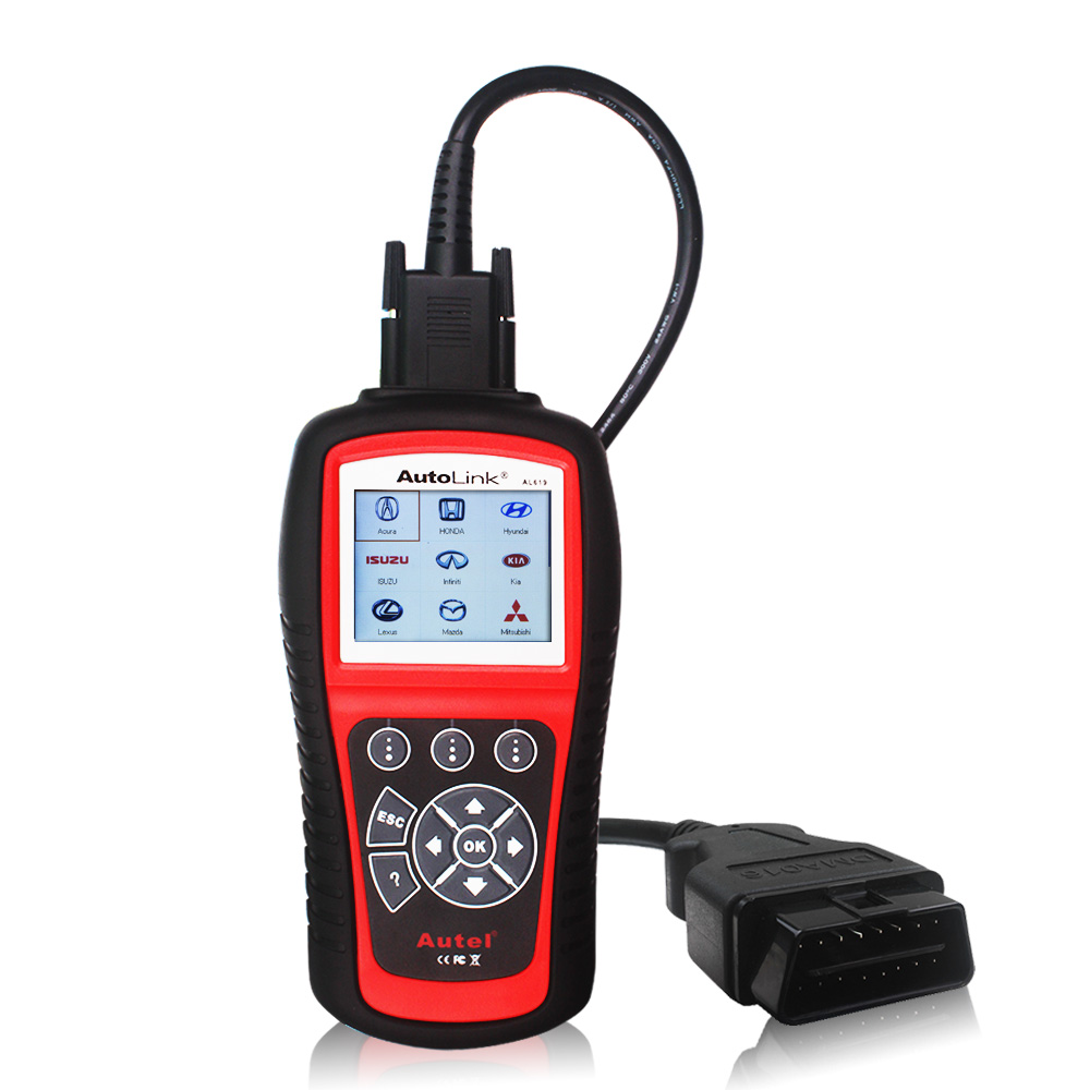 Original Autel AutoLink AL619 OBDII CAN ABS&SRS Car OBD OBD2 Code Reader Diagnostic Scan Tool Update Online DHL Free Shipping(China (Mainland))