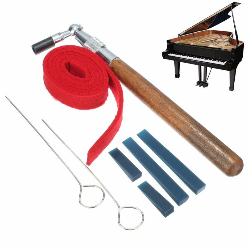 8Pcs/set Piano Tuning Hammer Mute Kit Tools Tuning Hammer+Temperament Strip+Mutes Handles+Long Rubber Mutes+Short Rubber Mutes(China (Mainland))
