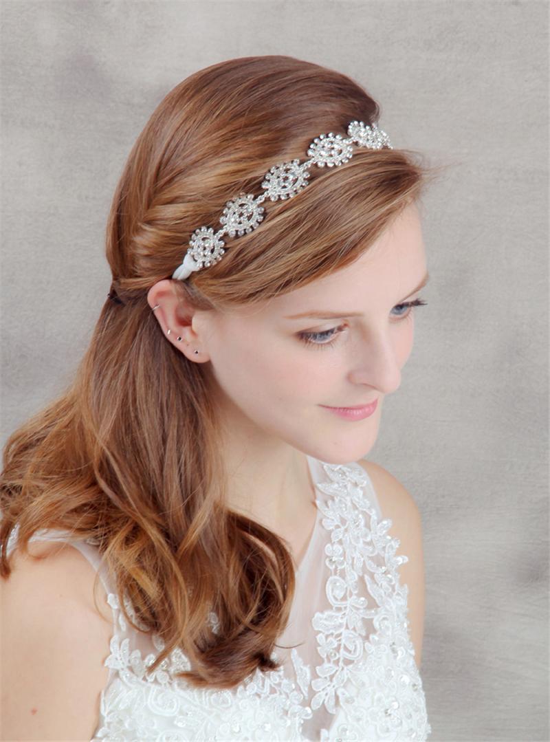 Crystal Head Chain Flower Hair Jewelry Headband Wedding Hair Accessories Bridal Headpiece Bijoux De Tete Cheveux WIGO0633(China (Mainland))