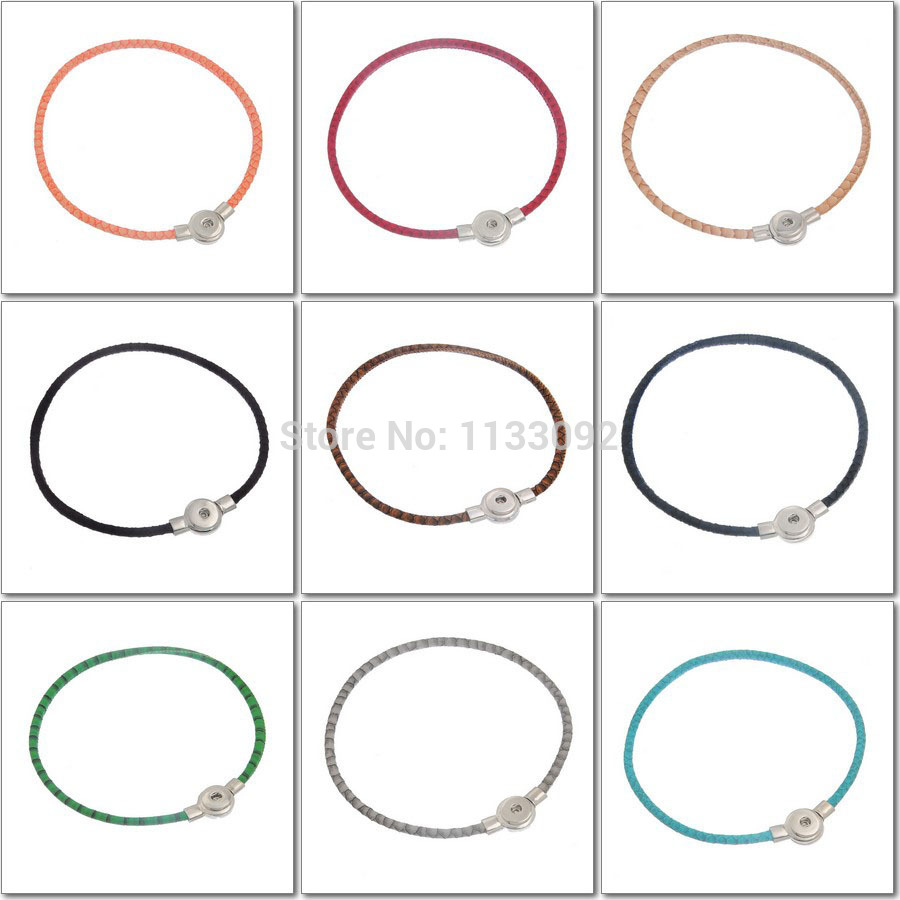 12pcs/lot New Snake Pu leather snap button necklace pendant jewelry ginger snap charm button pendant Magnetic Clasp necklace<br><br>Aliexpress