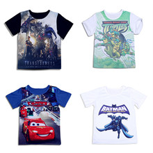 Promotion boys clothes summer children t shirts casual girls boys clothing cartoon short sleeve tops tees brand kids t-shirt(China (Mainland))
